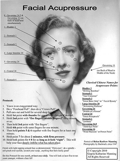 Facial Acupressure   Energy Medicine with Titanya